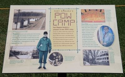 Fort Niagara's P.O.W. Camp Marker image. Click for full size.