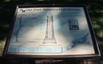 Old Fort Niagara Lighthouse Marker image. Click for full size.