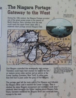 The Niagara Portage: Gateway to the West Marker image. Click for full size.
