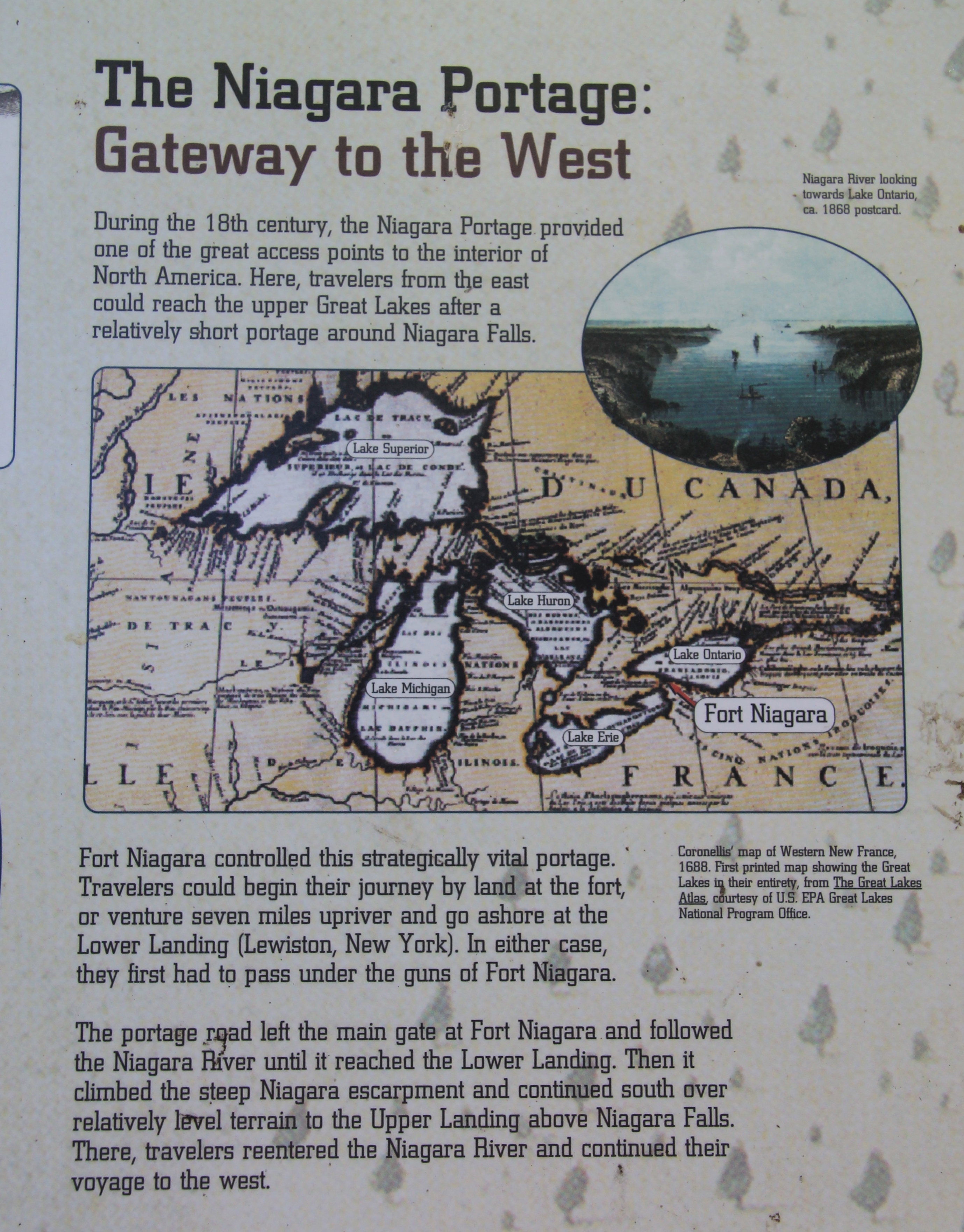 The Niagara Portage: Gateway to the West Marker
