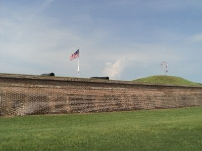 15-inch Rodman Guns Viewed from Outside Fort Moultrie image. Click for full size.