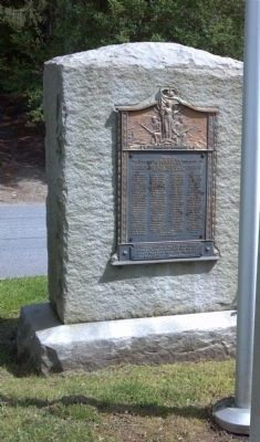 Back side of the Aston and Middletown WWI Memorial image. Click for full size.
