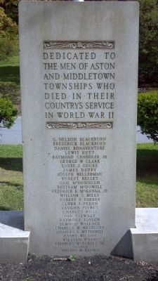 Aston and Middletown Township WWII Memorial image. Click for full size.
