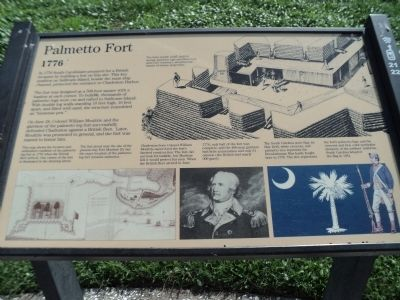 Palmetto Fort Marker image. Click for full size.