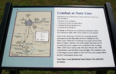 Combat at State Line Marker image. Click for full size.