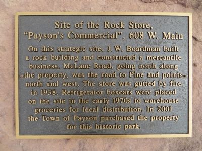 Site of Rock Store Marker image. Click for full size.