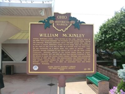 William McKinley Marker image. Click for full size.