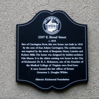 2307 E. Broad Street Marker image. Click for full size.