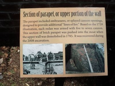 Section of parapet, or upper portion of the wall Marker image. Click for full size.