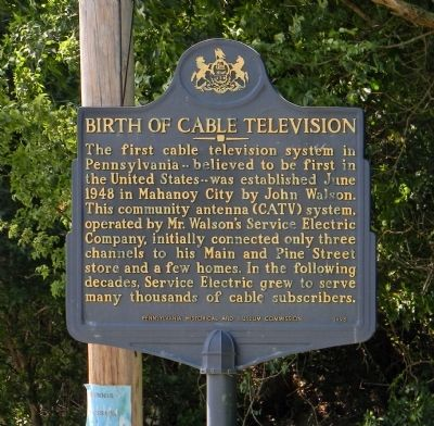 Birth of Cable Television Marker image. Click for full size.
