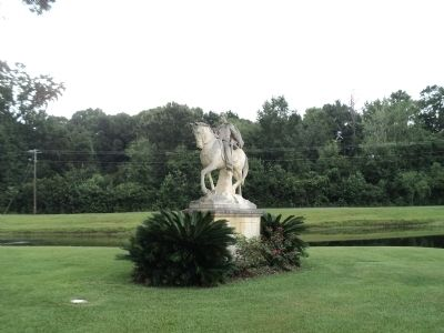 Robert E. LeeStatue in J. F. Gregory Park image. Click for full size.