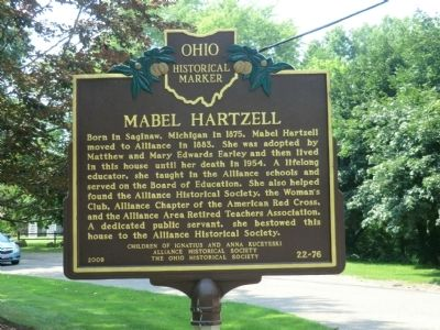 Mabel Hartzell Marker image. Click for full size.