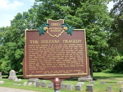 The Sultana Tragedy Marker image. Click for full size.
