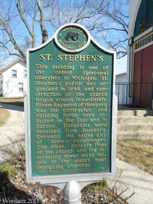 St. Stephen's Marker image. Click for full size.