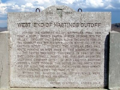 West End of Hastings Cutoff Marker image. Click for full size.