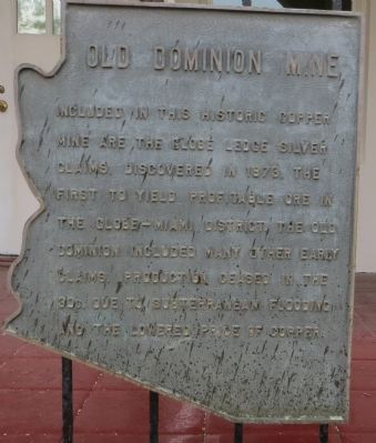 Old Dominion Mine Marker image. Click for full size.