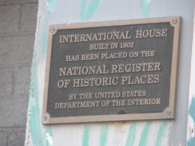 International House Marker image. Click for full size.