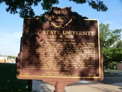 Side Two - Kent State University Marker image. Click for full size.