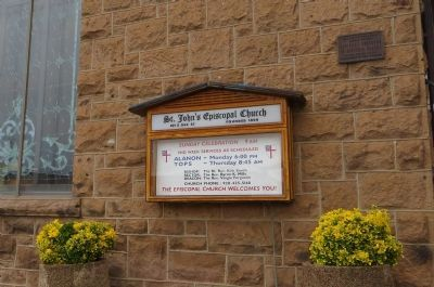 St. John's Espiscopal Church Marker image. Click for full size.