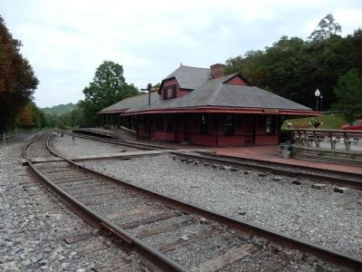 Cumberland and Pennsylvania Railroad Depot image. Click for full size.