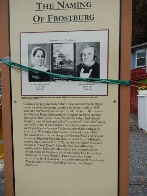 The Naming of Frostburg Marker image. Click for full size.