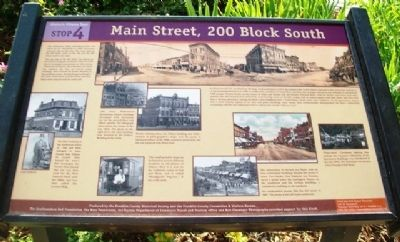 Main Street, 200 Block South Marker image. Click for full size.