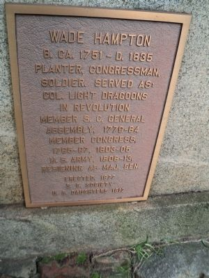 Wade Hampton Marker image. Click for full size.