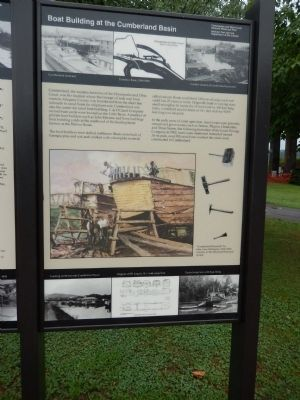 Boat Building at the Cumberland Basin Marker image. Click for full size.