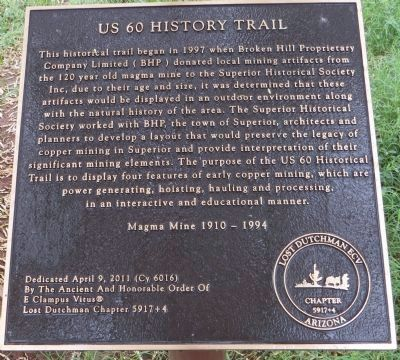 US 60 History Trail Marker image. Click for full size.