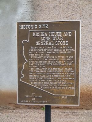 Michea House and Lone Star General Store Marker image. Click for full size.