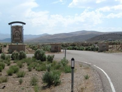 Entrance to the California Emigrant Trail Interpretive Center image. Click for full size.
