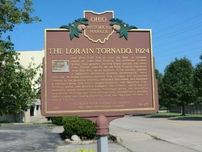 The Lorain Tornado, 1924 Marker image. Click for full size.