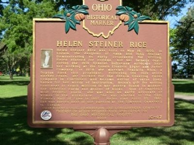Helen Steiner Rice Marker image. Click for full size.
