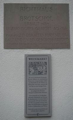 Weinmarkt Marker image. Click for full size.