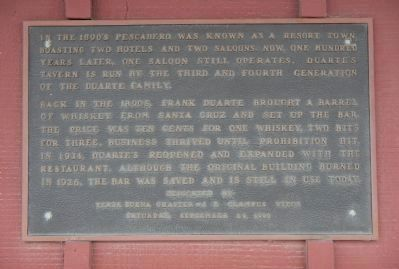 Duarte's Tavern Marker image. Click for full size.