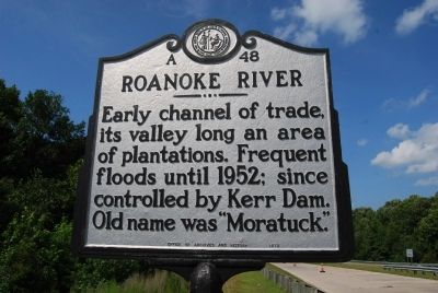 Roanoke River Marker image. Click for full size.