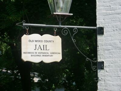 Old Wood County Jail Marker image. Click for full size.