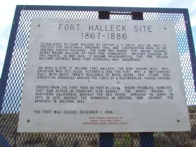 Fort Halleck Site Marker image. Click for full size.