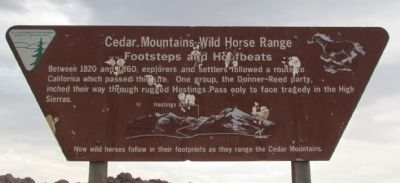 Cedar Mountains Wild Horse Range Marker image. Click for full size.