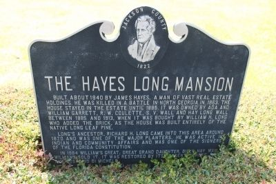The Hayes Long Mansion Marker image. Click for full size.