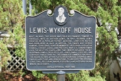 Lewis-Wykoff House Marker image. Click for full size.