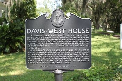 Davis-West House Marker image. Click for full size.