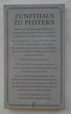 Zunfthaus zu Pfistern Marker image. Click for full size.