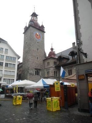 Lucern Rathaus (City Hall) from the Kornmarkt image. Click for full size.