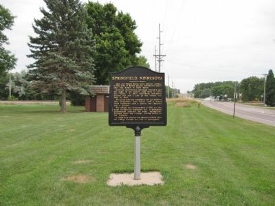 Springfield, Minnesota Marker image. Click for full size.
