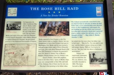 The Rose Hill Raid Marker image. Click for full size.