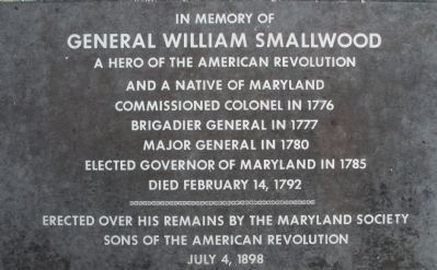 At General Smallwood's Gravesite Marker image. Click for full size.