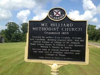 Mt. Hilliard Methodist Church Marker image. Click for full size.