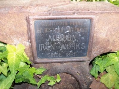 Auburn Iron Works Secondary Plaque image. Click for full size.