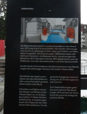 Mühlenplatz (Mill Place) Marker, panel 2 image. Click for full size.